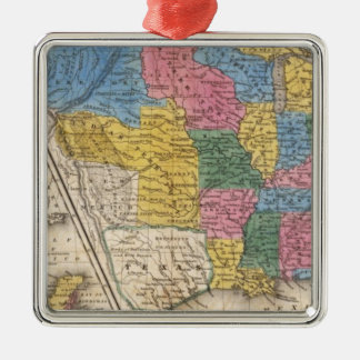 United States Texas Mexico and Guatimala Silver-Colored Square Decoration
