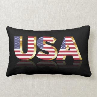 United States text flag Lumbar Cushion