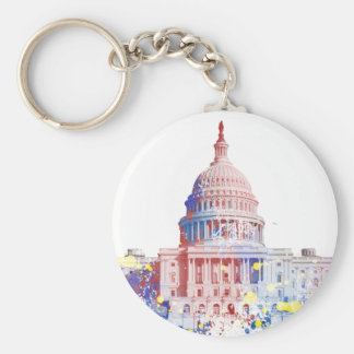 United States The Capitol building Keychains