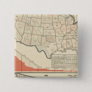United States Thematic maps 15 Cm Square Badge