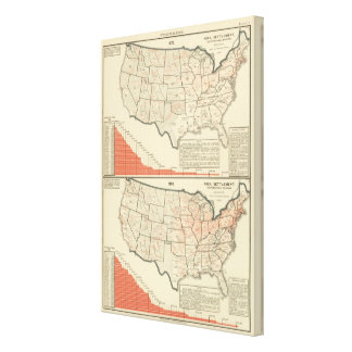 United States Thematic maps Canvas Print