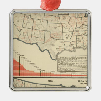 United States Thematic maps Christmas Ornament
