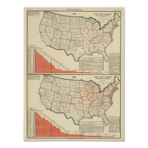 United States Thematic maps Print