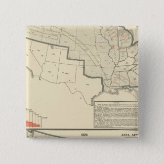 United States Two color lithographed maps 15 Cm Square Badge