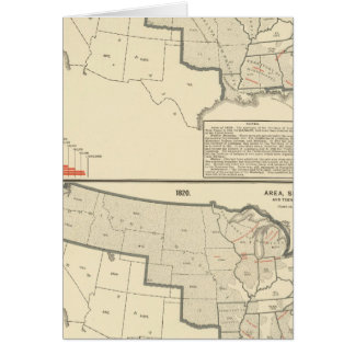 United States Two color lithographed maps Card