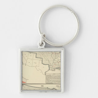 United States Two color lithographed maps Key Ring