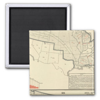 United States Two color lithographed maps Magnet