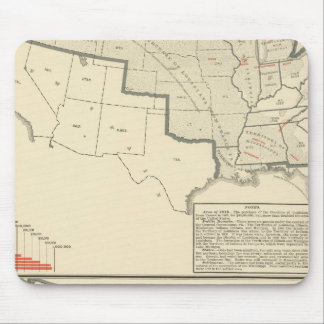 United States Two color lithographed maps Mouse Mat