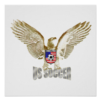 United States US soccer Eagle soccer artwork Poster