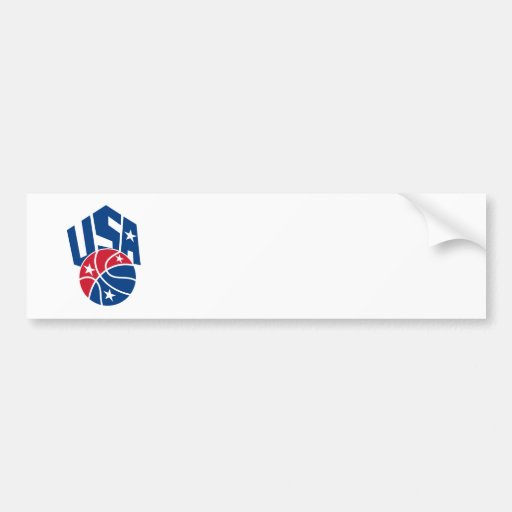 United States USA American Basketball Ball Bumper Stickers