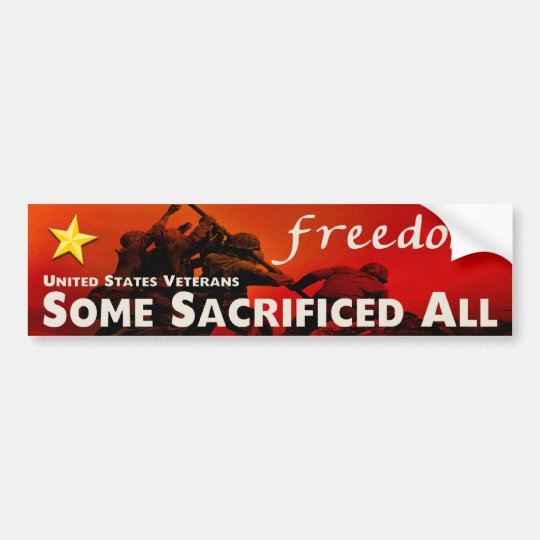 United States Veterans Bumper Sticker