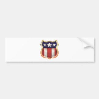 United States Vintage Shield Bumper Sticker