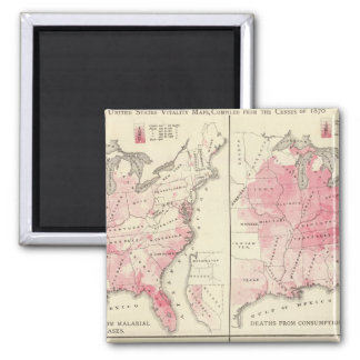 United States vitality maps Square Magnet