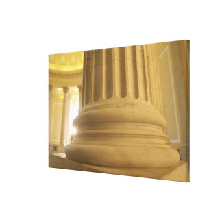 United States, Washington, D.C. A Pillar in the Canvas Print