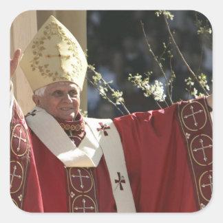 United States Washington D C Pope Benedict 2 Square Stickers