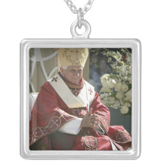United States, Washington, D.C. Pope Benedict Silver Plated Necklace