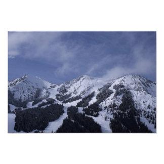 United States, Washington, ski trails at Photo Print