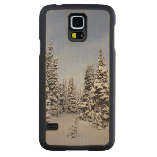 United States, Washington, snow covered trees Carved Maple Galaxy S5 Case