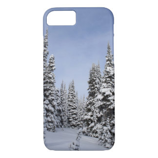 United States, Washington, snow covered trees iPhone 8/7 Case