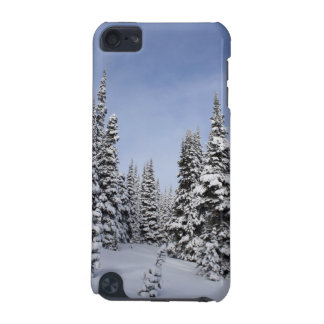 United States, Washington, snow covered trees iPod Touch (5th Generation) Case