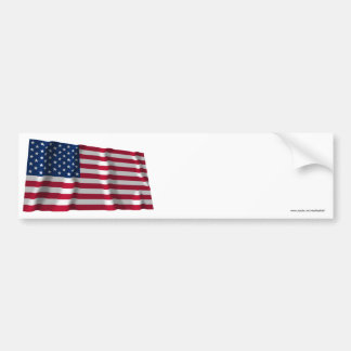 United States Waving Flag Bumper Sticker