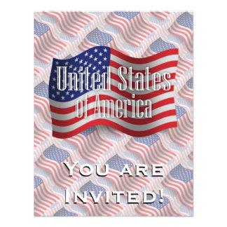 United States Waving Flag Invitations