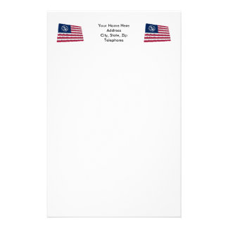 United States Waving Yacht Ensign Customized Stationery