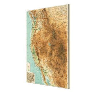 United States western section Canvas Print