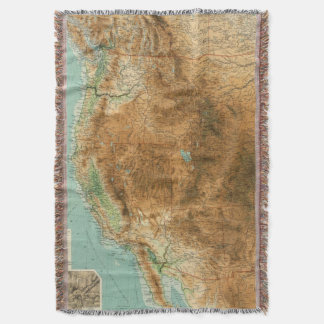 United States western section Throw Blanket