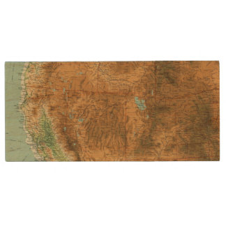 United States western section Wood USB Flash Drive