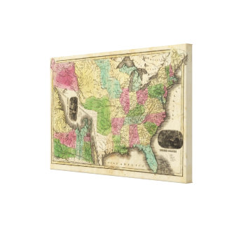 United States with Eastern States Canvas Print