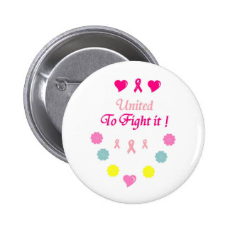 United to Fight Breast Cancer 6 Cm Round Badge