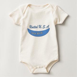 United U.S.A Blue Baby Bodysuit