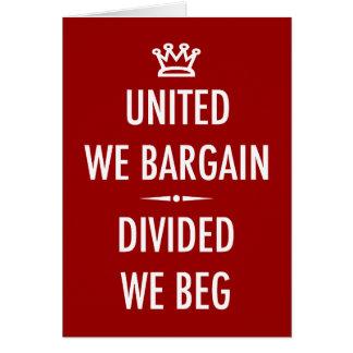 United We Bargain Card