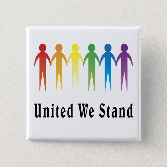 United We Stand 15 Cm Square Badge