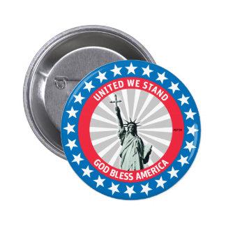 United We Stand 6 Cm Round Badge