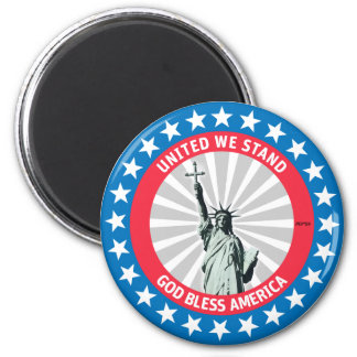 United We Stand 6 Cm Round Magnet