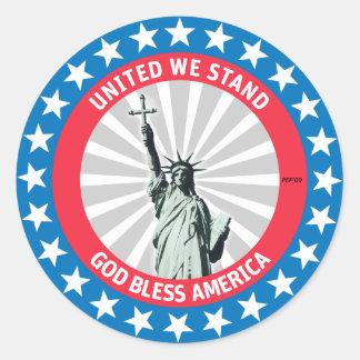 United We Stand Classic Round Sticker