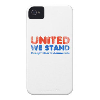 United we stand, except liberal democrats Faded.pn Case-Mate iPhone 4 Case