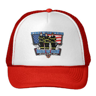 United We Stand Firefighters Trucker Hats