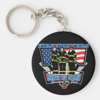 United We Stand Firefighters Key Ring