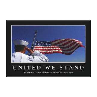 United We Stand: Inspirational Quote Canvas Print
