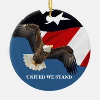 United We Stand/USA Christmas Ornament