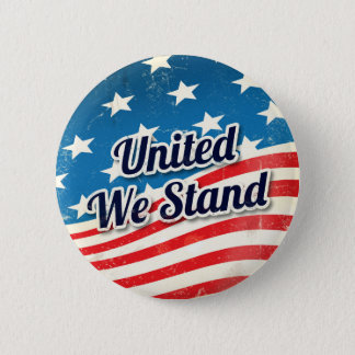 United We Stand Vintage 6 Cm Round Badge