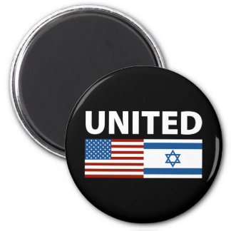 United with Israel 6 Cm Round Magnet