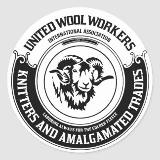 United Wool Workers Stickers