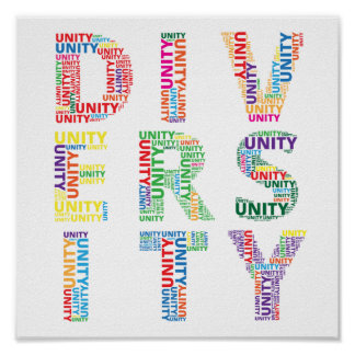Unity in Diversity Colourful poster