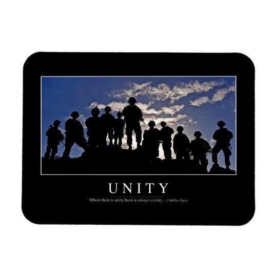 Unity: Inspirational Quote 2 Rectangular Photo Magnet