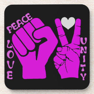 Unity,Love & Peace,Togetherness_ Drink Coasters