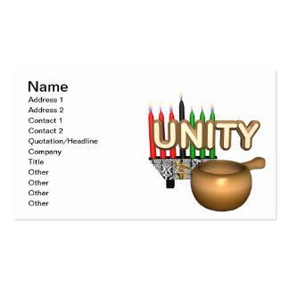 Unity Pack Of Standard Business Cards